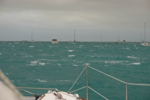 wind in the anchorage of key west